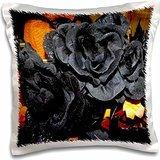 WhiteOak Gothic Photography - Black Roses Black Rose Design - 16x16 inch Pillow Case