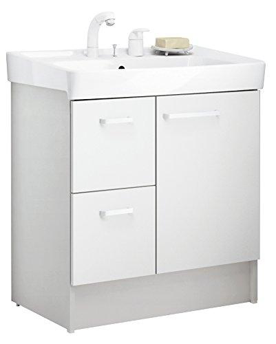LIXIL(リクシル) INAX 洗面化粧台 D7シリーズ 間口750 片引出タイプ ホワイト D7H4-755SY1-W/VP1W