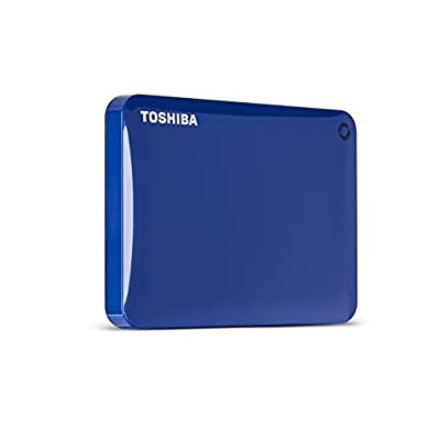 Toshiba Canvio Connect II 500GB Portable Hard Drive, Blue (HDTC805XL3A1)