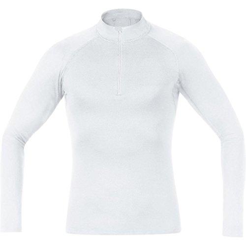 GORE BIKE WEAR Herren Warmes Stehkragen-Unterzieh-Shirt, Langarm, Stretch, GORE Selected Fabrics, BASE LAYER Turtleneck, Größe: S, Weiß, UTNSME