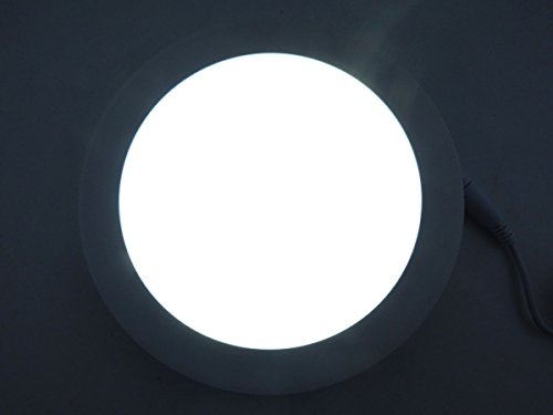 E-Age 15 Watt Round Led Panel Light Recessed Kitchen Bathroom Lamp Day White Replace 150W Incandescent Bulb Wall Lights