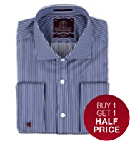 Sartorial Pure Cotton Slim Fit Striped Shirt