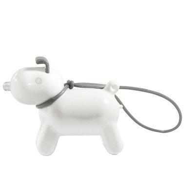「ドッギー」キーファインダー/「DOGGY」 Key Finder 色:ホワイト 130001WH 鳴き声で鍵の場所を教えてくれる賢いワンコ型キーホルダー! mono CREATION (shop)