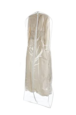 Bags for LessTM Clear Heavyduty 4.5 Mil Wedding Dress Garment Bag