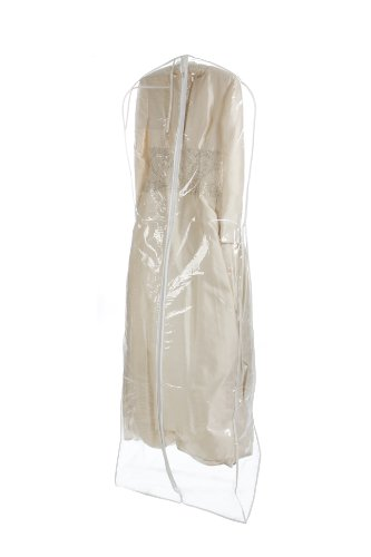 Brand New Clear Bridal Wedding Gown Dress Garment Bag by BAGS FOR LESSTM (Dress Garment Bags Clear compare prices)