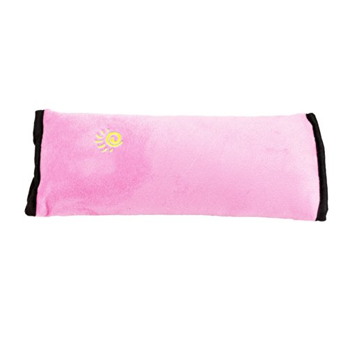 Cotton Velvet Car Safety Seat Belt Shoulder Pad Pillow For Children With Golden Sun Logo (Pink)