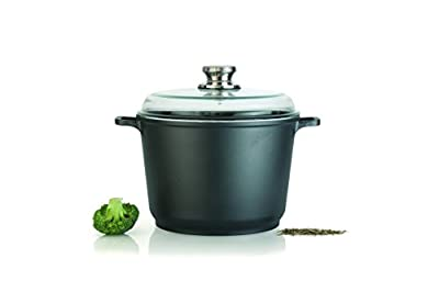"Eurocast/Berghoff Professional Cookware 8"" 3.5L Casserole Pot with Glass Lid"