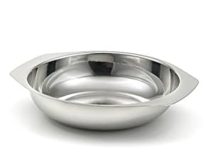 StainlessLUX 75117 Brilliant Stainless Steel Salad Bowl / Side Dish (7.25 Inches x 5 Inches x 2.4 Inches)