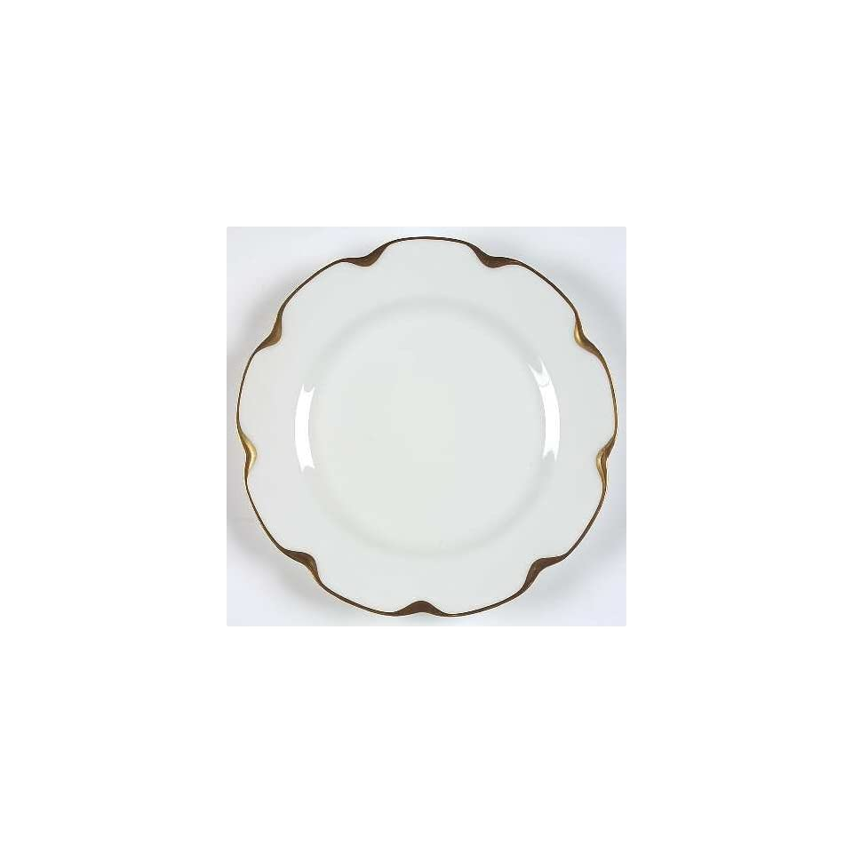 Haviland Limoges Silver Anniversary Pattern 9 3/4 DINNER PLATE White with scalloped gold accents