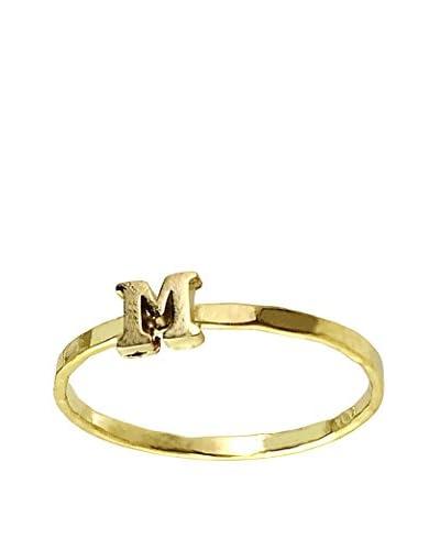 Charlene K Vermeil M Initial Ring