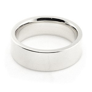 14K White Gold Men's & Women's Wedding Bands 6mm flat comfort-fit, 4
