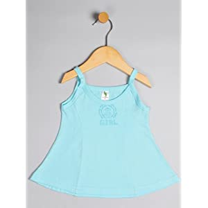 girl knit sleeveless dress, l, light blue