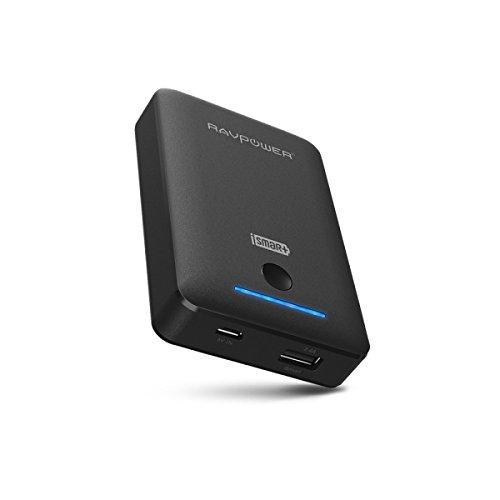 RAVPower モバイルバッテリー軽量/小型 7800mAh  iSmart機能搭載 2USBポート 急速充電可能18ヶ月の安心保証iPhone6plus/6/5S/5C/5/4S・iPad Air/mini・各種タブレット・Galaxy・Xperia・各社Androidスマホ/ウォークマン等マルチデバイス対応(ブラック)(日本語説明書付) RP-PB31
