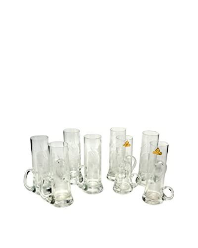 Uptown Down Set of 8 Vintage Glasses, Clear