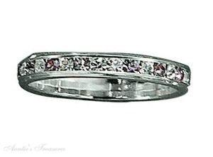 Sterling Silver June Birthstone Eternity Ring Size 7