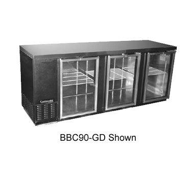 """Continental Backbar Cooler 90"""" Wide BBC90-GD"""