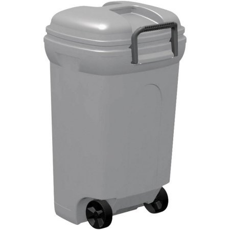 United Solution 45-Gallon Ideal Outdoor Wheeled Rectangular Blow Molded Trash Can (Colored Trash Can With Lid compare prices)