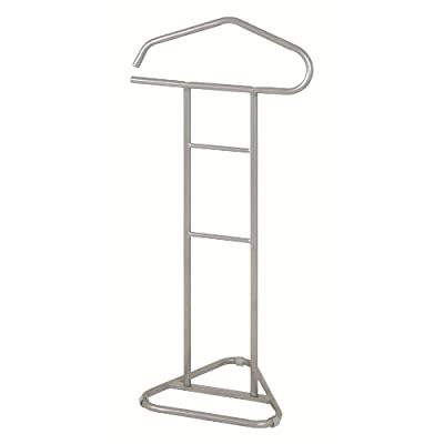 PORTER-MODERNO Clothes Valet Stand in Aluminium Colour Metal