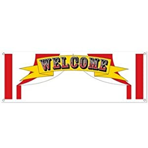 Welcome Sign Banner Party Accessory (1 count) (1/Pkg) from The Beistle Company