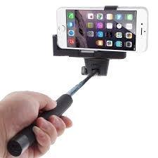 Cazbe Selfie Stick - Bluetooth - Apple iphone, Samsung, Android - Black