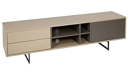 Mueble TV Liv Moka Gris 42 x 180 x 50 cm - LuxoMobel