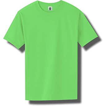 Short Sleeve Bright Neon T-Shirt in Neon Green - Small