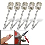 Silvery Air Inflation Sports Ball Point Needle 5PCS