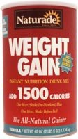 Naturade Sugar Free Weight GainPowder, Vanilla 38.94 oz.
