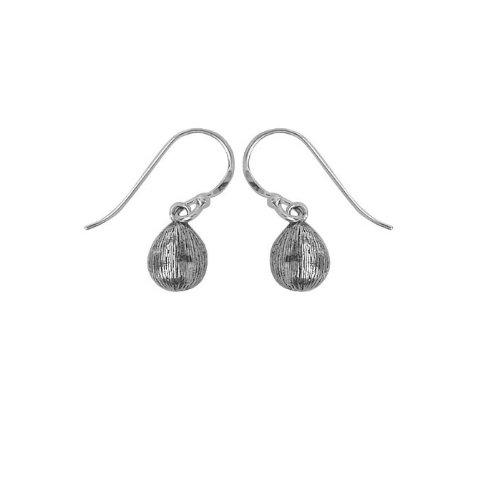Boma Florentine Style Sterling Silver Tear Dangle Earrings