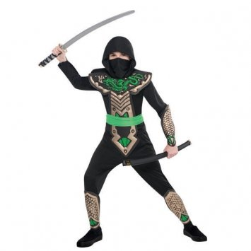 [Children's Dragon Slayer Ninja Costume Size Medium (8-10)] (Ninja Dragon Costumes)