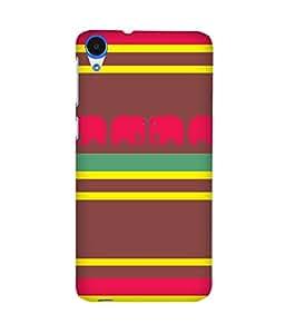 Stripes And Elephant Print (25) HTC Desire 820 Case