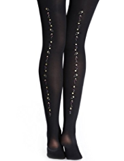 60 Denier Sequin Embellished Rear Seam Body Sensor™ Tights