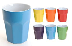 kaffeebecher ohne henkel 6 unifarben 300 ml 12 st ck k che haushalt. Black Bedroom Furniture Sets. Home Design Ideas