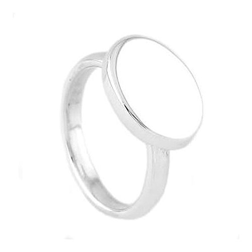 Silver Monogrammable Signet Oval Ring for Toddler or Child Size 2