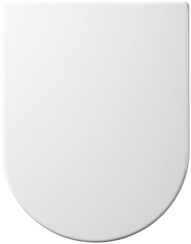 Top Fix BTW Long Projection Close Coupled Elongated D Shape One Button Quick Release Soft Close White Toilet Seat