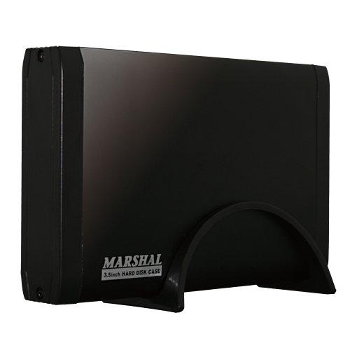 MARSHAL 3.5インチSATAハードディスクケース USB2.0接続 MAL-3735SBK