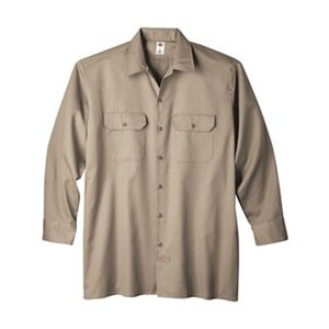 Long Sleeve Work Shirt, Twill, Khaki, LT кпб cl 219