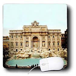 Vacation Spots - Trevi Fountain Italy - Mouse Pads