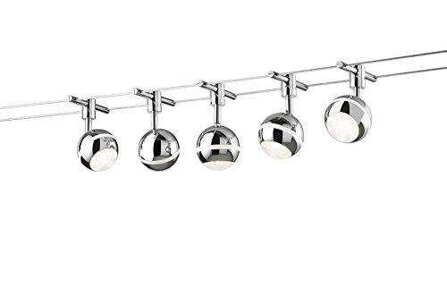 Trio Leuchten 770010587 - Sistema LED a filo, modello Basic, colore titanio Baloubet