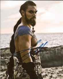Jason Momoa As Khal Drago Signed 8x10 Game of Thrones
