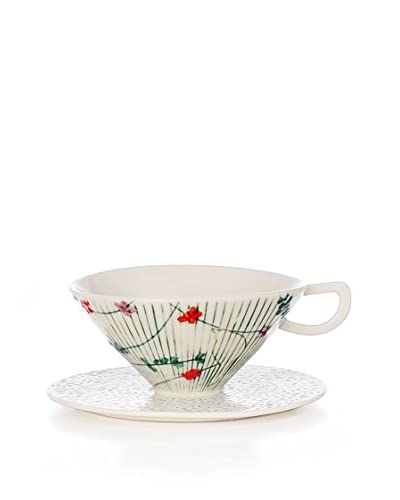 L'Abitare Taza de Té con Plato Seasons September Multicolor/Blanco