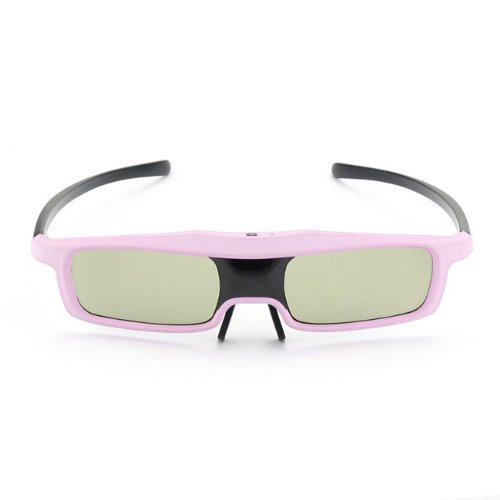 SainSonic Rainbow Series 2013 Newest Economical Pink Version UNIVERSAL 3D Rechargeable Infrared Active Shutter Glasses For Panasonic, Samsung, Sony, Sharp, LG, Toshiba, Philips 3D HDTVs, Cost Less, Enjoy More!
