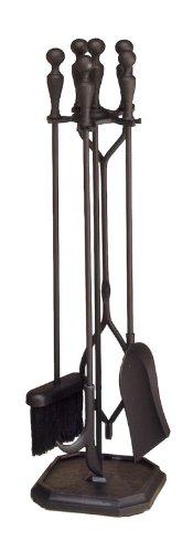 Minuteman International Black 4-Tool Fire Set (Black Fireplace Set compare prices)