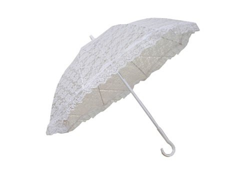 "Halloween 2017 Disney Costumes Plus Size & Standard Women's Costume Characters - Women's Costume Characters Mary Poppins Costume 24"" White Lace Parasol Umbrella"