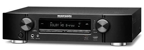 Marantz NR1504 Slim-line 5.1 - Sintoamplificatore A/V 85 Watt, HDMI, funzioni di rete con AirPlay e Spotify, colore: Nero