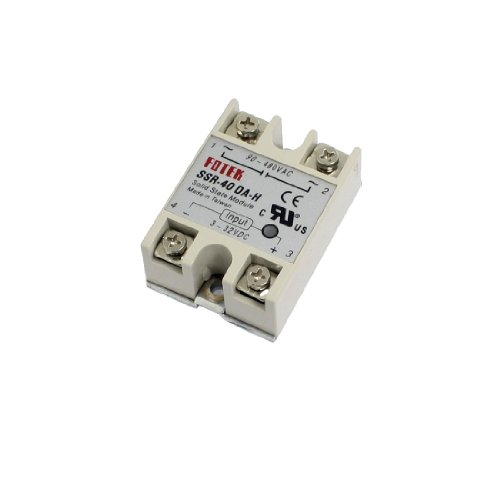 Dc-Ac Metal Base Solid State Relay Ssr-40Da-H 40A Output 90-480V Ac front-1087990
