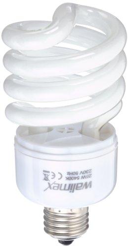 Walimex Ampoule à lumière du jour en spirale (25W, correspond à 150W) pour photographies en studio ou de produits