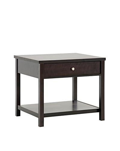 Baxton Studio Nashua Accent Table/Nightstand, Dark Brown