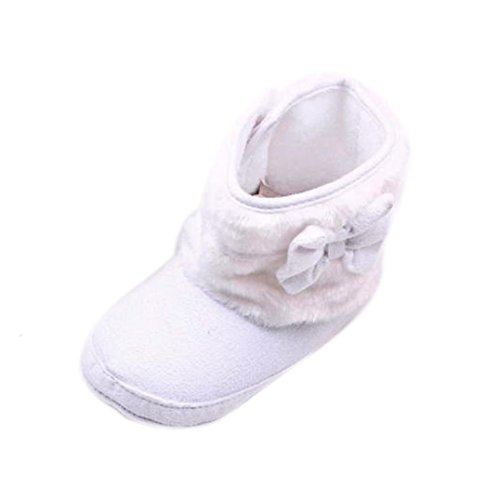 Scarpine Neonata,Xinantime Scarpe Invernali Bowknot Cotton Boot Bambino Prewalker (11)