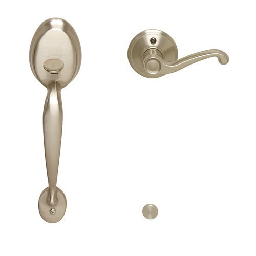 Schlage Fe285-Ply-Fla-Lh Plymouth Lower Handleset For Electronic Keypad With Fla, Satin Nickel